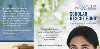 The Institute of International Education's Scholar Rescue Fund (IIE-SRF) 2021/2022 for Threatened Scholars worldwide