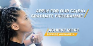 Standard Bank Chartered Accounting CA(SA) Programme 2021 for Young South Africans.