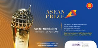 Association of Southeast Asian Nations (ASEAN) Prize 2021 (Up to $20,000)