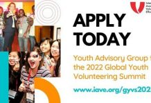 IAVE's Global Youth Volunteering Summit 2022 Youth Advisory Group for young people worldwide.