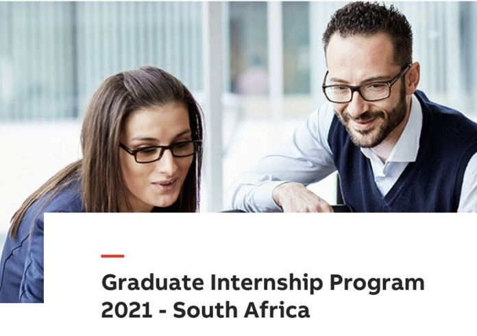 ABB South Africa Graduate Internship Program 2021 for young South African graduates.