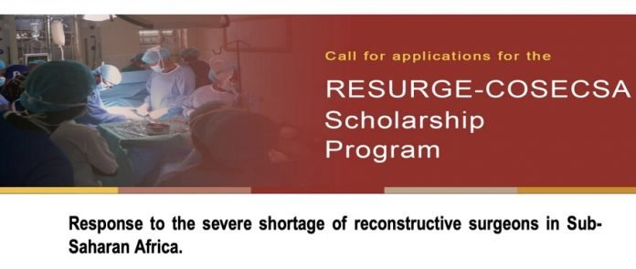 ReSurge-COSECSA Scholarship Program 2021 for final year African Medical Students.