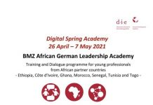 BMZ African German Leadership Academy Training and Dialogue Programme 2021 for young professionals.