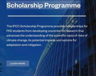 IPCC Scholarship Programme 2021 in Climate Change for PhD students from developing countries.