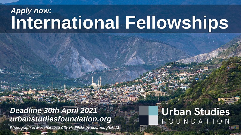 Urban Studies Foundation (USF) International Fellowship 2021 for Scholars from the Global South