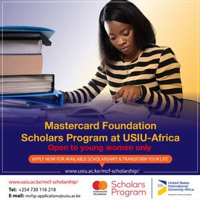 United States International University-Africa (USIU-Africa) Mastercard Foundation Scholars Program 2021 for young Africans (Fully Funded)