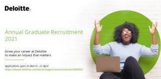 Deloitte East Africa 2021 Annual Graduate Recruitment Programme for young graduates.