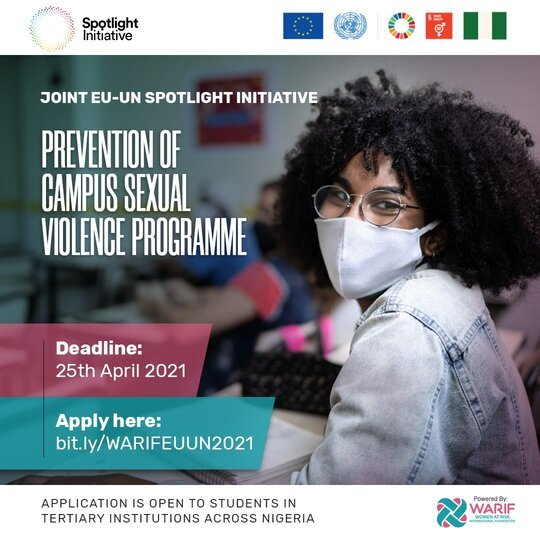 WARIF x Joint EU-UN Spotlight Initiative: Prevention of Campus Sexual Violence Program 2021