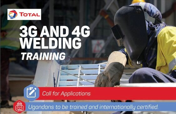 Total E&P Uganda 3G & 4G Welding Training Program 2021 for young Ugandans.