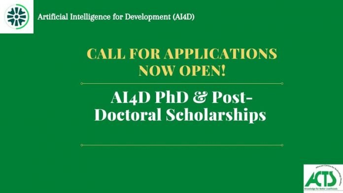 IDRC/SIDA Artificial Intelligence for Development (AI4D) Africa Scholarships 2021 for PhD and Post-Doctoral Students.