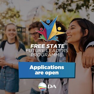 Democratic Alliance (DA) Free State Future Leaders Programme 2021 for young South Africans.