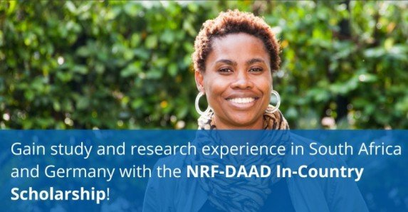 NRF-DAAD In-Country Scholarship Postgraduate (MA and PhD) Scholarships 2021/2022 for young South African Graduates (Fully Funded)
