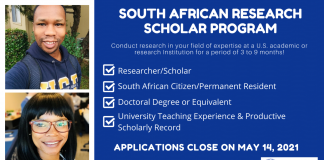Fulbright South African Research Scholar Program 2022-2023 (Fully-funded)