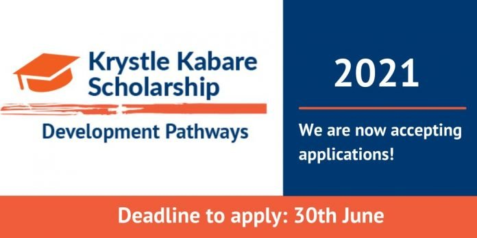 The Development Pathways Krystle Kabare Scholarship Programme 2021 for young Kenyan graduates.