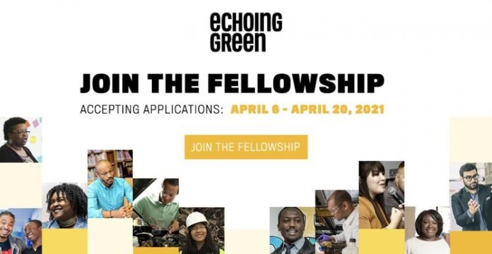 Echoing Green Fellowship 2021 for emerging Social Entrepreneurs