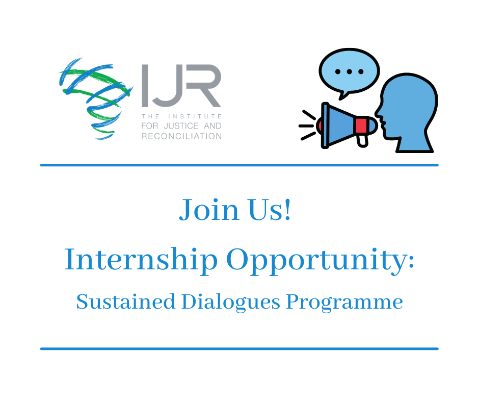 Institute for Justice and Reconciliation (IJR) Internship Programme 2021 for South Africans