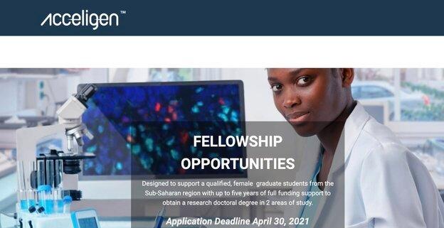 University of Minnesota/Accligen Research Fellowship 2021 for African Women Researchers.