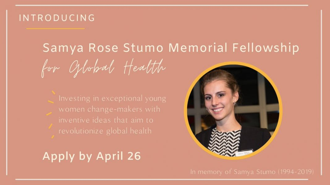 Samya Rose Stumo Memorial Fellowship for Global Health 2021 (Stipend available)