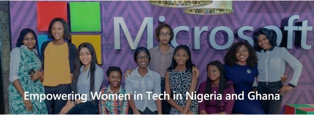 Microsoft Empowering Women in Tech in Nigeria and Ghana.