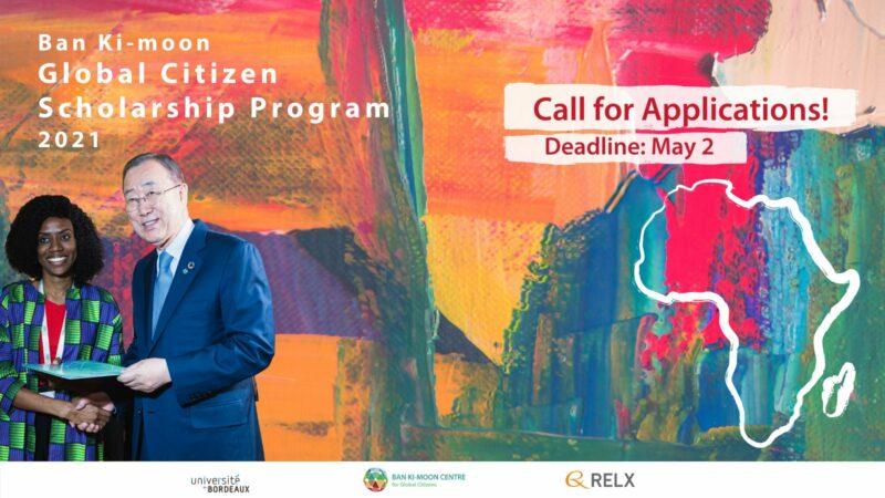 Ban Ki-moon Global Citizen Scholarship Program 2021 for Young Africans