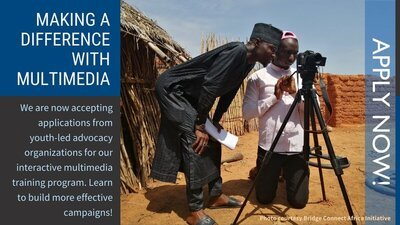 PRB Making a Difference With Multimedia 2021 Fellowship for youth-led advocacy Organizations.