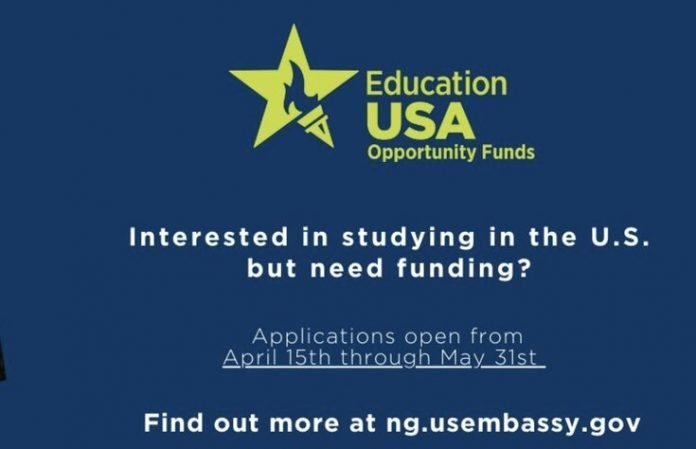 US Embassy EducationUSA Opportunity Funds Program (OFP) 2021/2022 for young Nigerians.
