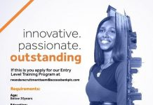 Access Bank Rwanda Entry Level Training Program 2021 for young Rwandans.
