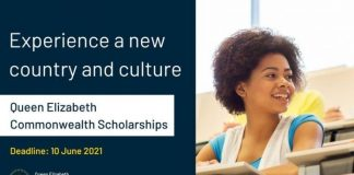 Queen Elizabeth Commonwealth Scholarships (QECS) 2021/2022 for students in Commonwealth Nations (Fully Funded)