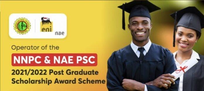 Nigerian Agip Exploration (NAE) 2021/2022 Post Graduate Scholarship Award Scheme