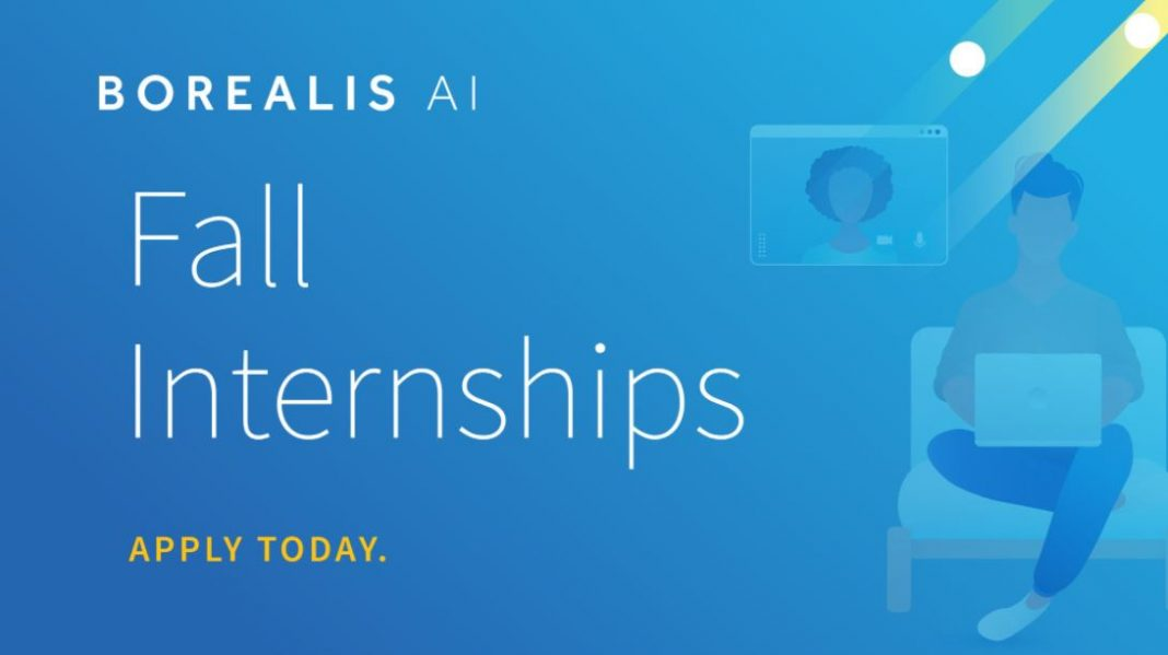 Borealis Artificial Intelligence (AI) Internship Program – Fall 2021