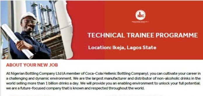 Nigerian Bottling Company (NBC) Technical Trainee Program 2021 for young Nigerians