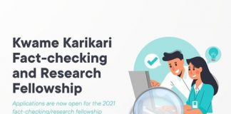 Kwame Karikari Fact-Checking and Research Fellowship 2021