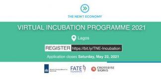 The Next Economy Virtual Incubation Programme 2021 for aspiring Entrepreneurs.