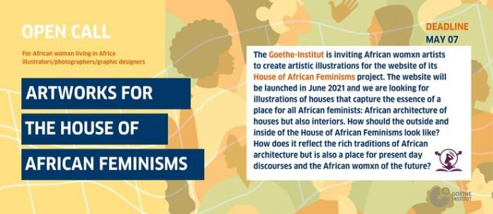 Goethe institute Artworks for the 'House of African Feminisms Project' for young female Artists.