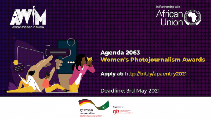 The African Union (AU) Agenda 2063 Women's Photojournalism Award 2021 for African Female Journalists. ($USD 2000 cash Prize)