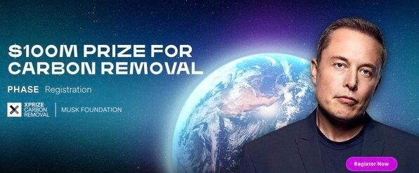 XPRIZE Carbon Removal Competition 2021 ($USD 100 Million)