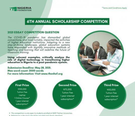 Nigeria Higher Education Foundation (NHEF) Scholars Program 2021 for young Nigerians