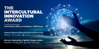 UNAOC/BMW Group Intercultural Innovation Award 2021 (Up to $200,000)