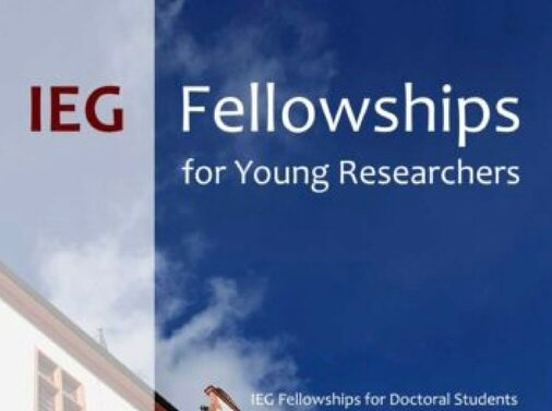IEG Fellowships 2021 for Doctoral Study in Germany.