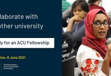 Association of Commonwealth Universities (ACU) Fellowship Program 2021