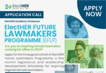 ElectHER Future Lawmakers Programme 2021 for aspiring female lawmakers.