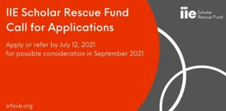 Institute of International Education's Scholar Rescue Fund (IIE-SRF) 2021 for Threatened and Displaced Scholars (Up to $25,000)