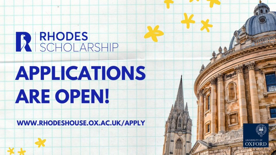 Apply for Rhodes Scholarship 2021 to study at the University of Oxford (fully-funded)