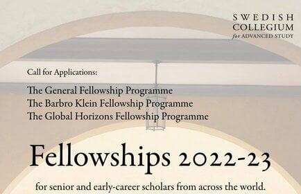 The Barbro Klein Fellowship Programme 2022/2023 for senior and early-career scholars worldwide