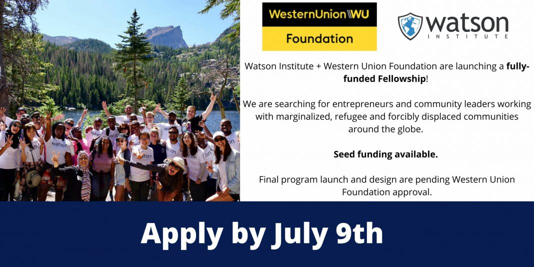 Western Union Foundation Fully Funded Accelerator and Fellowship 2021 (Seed Funding Included)