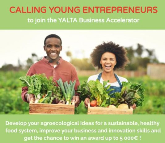 YALTA Business Accelerator Program 2021 for young entrepreneurs in agriculture, food and nutrition (€5,000 Award)