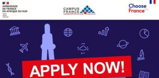 The France–South Africa Scholarship Programme 2021/2022 for young South Africans to study in France (Fully Funded)