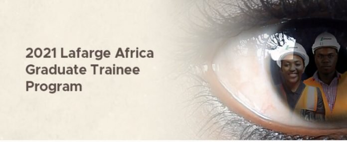 Lafarge Africa Graduate Trainee Program 2021 for young Nigerian graduates.
