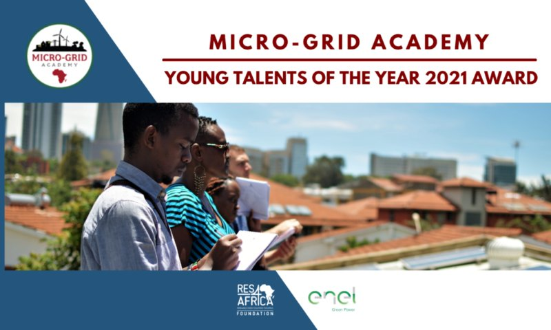Micro-Grid Academy (MGA) Young Talent of the Year 2021 Award (Up to €5,000)