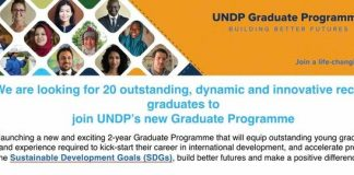 UNDP Graduate Programme 2021 for outstanding young graduates (Fully Funded)